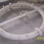 plastic component for GRP tank