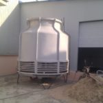 small round cooling tower