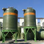 FRP conic storage tank for Steel plant pickling line